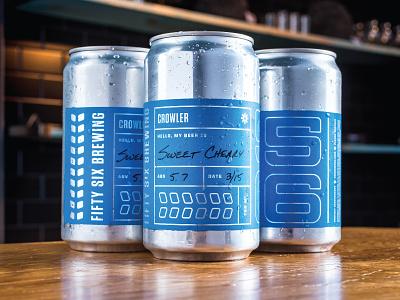 Crowlahs typography grain premium metallic foil silver can branding packaging crowler beer brewery
