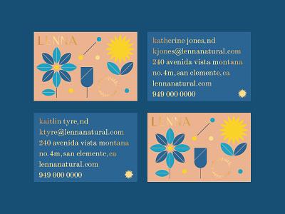 Lenna No. 1 custom type type vector print plants flower natural illustration business card