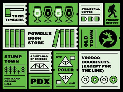 PDX bound yet again bridge deer lockup icon trees oregon beer coffee outdoors poler pdx portland