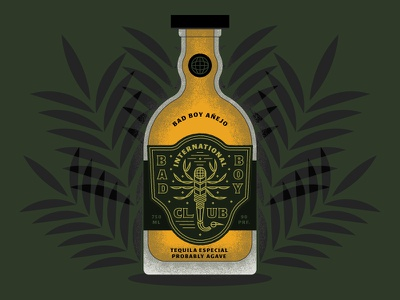 Probably Agave bottle spirits agave vector scorpion plants illustration type lockup badge tequila