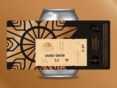 LTD AF lockup premium minneapolis beer theater ticket gold packaging brewery can crowler