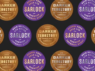 Stout Season beer brewery badge type lockup typography minneapolis stout porter branding logo