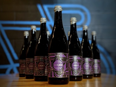 Sarlock Russian Imperial Stout vector monoline branding bottle premium packaging beer brewery foil stout imperial russian