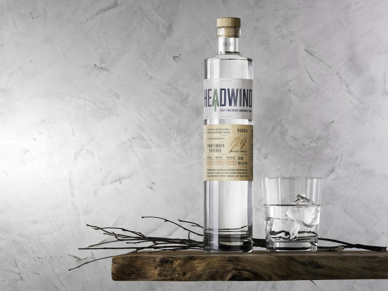Headwind Vodka wood craft pnw pacific northwest oregon portland branding packaging vodka spirits