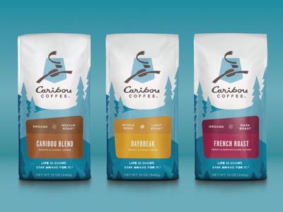 Caribou Coffee Packaging
