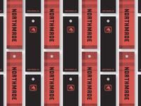 Northmade Co. Hang Tags plaid typography lockup badge loon brand identity clothing apparel hangtag print