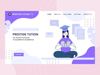 Educational Landing Page Design designinspiration designoftheday pictureoftheday dailyui landing page design web ui design website design uidesign uiux ui download xd kit free download free download free educational study website design education website education app educational app design educational website