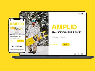 Amplid Burton Snowboards Landing page home screen homepage page landing landingpage burton snowboard web ux ui design