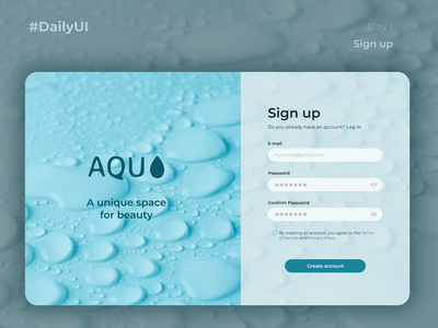 Daily UI #001 · Sign up dailyuichallenge challenge figma website branding web design uidesign uxdesign ux uxui ui