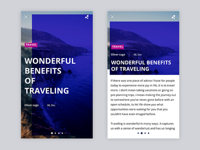 Article page design