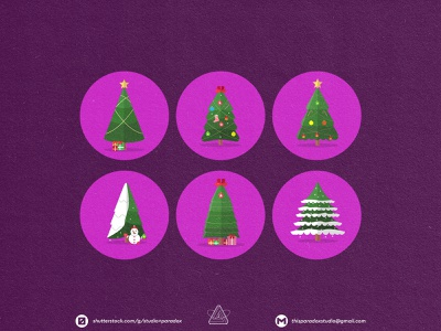 Christmas is NEAR! Christmas Icons Set Preview - Part 4 design graphicdesign vector set happy snowflake cild holiday marrychristmas banner cad santa gift cute colorful green icon character icons