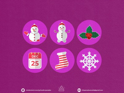 Christmas is NEAR! Christmas Icons Set Preview - Part 8 design graphicdesign vector set happy snowflake cild holiday marrychristmas banner cad santa gift cute colorful green icon character icons