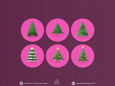 Christmas is NEAR! Christmas Icons Set Preview - Part 11 design graphicdesign vector set happy snowflake cild holiday marrychristmas banner cad santa gift cute colorful green icon character icons