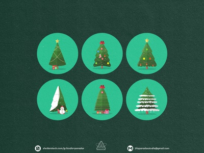 Christmas is NEAR! Christmas Icons Set Preview - Part 12 design graphicdesign vector set happy snowflake cild holiday marrychristmas banner cad santa gift cute colorful green icon character icons