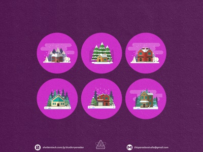 Christmas is NEAR! Christmas Icons Set Preview - Part 26 art cartoon illustration happy snowflake cold holiday marrychristmas banner card santa gift cute colorful green red icon characters icons chrismast
