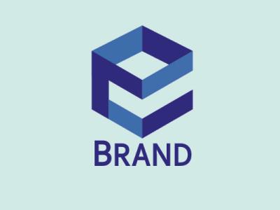 logo e box minimal typography branding logo