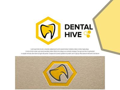 dental and hive logo design