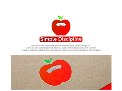 apple + weight scales weight apple design minimal branding logo
