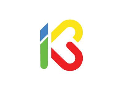 letter I + K vector illustration design logo
