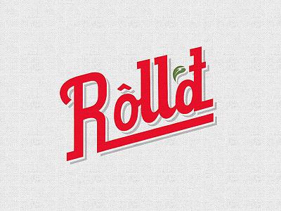 Rolld identity food qsr drop shadow lettering vietnamese typography graphics design logo