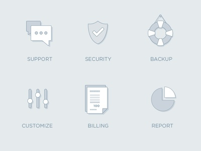 Icons e-learning concept billing icon app report security support branding webdesign ui ux