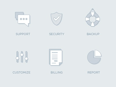 Icons e-learning concept