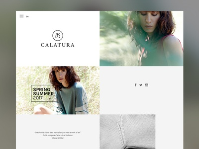 Calatura - Fashion Website
