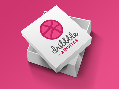 2 Dribbble Invites - Box Surprise