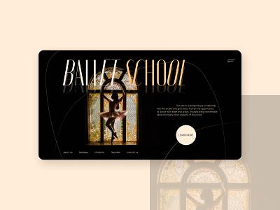 Ballet school redesign woman landingpage ui website concept designer uiux uidesign minimal typography tilda redesign school