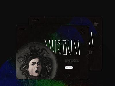 Museum website designer uidesign minimalism museum website website concept tilda minimal design typography