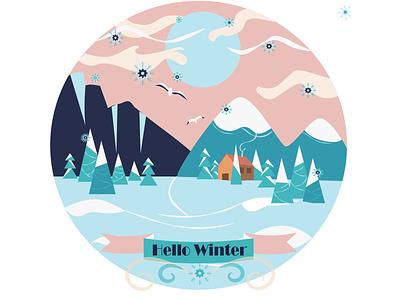 Winter color palette adobe illustrator art digitalwork artist photoshop illustration illustration digitalart color illustration digital illustration snowflake flatdesign flat season winter