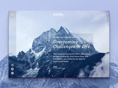 Overcoming Challenges in Life kowalenkopro website design website web design webdesign web ux ui design dribbbleweeklywarmup