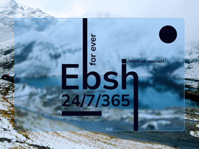 EBSH creative art web design figma design dribbbleweeklywarmup