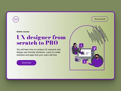 UX design Lending agency website website tilda figma design minimalist dream skills ui  ux home page lending page design dribbbleweeklywarmup
