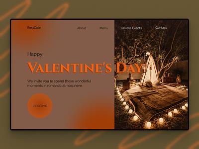 Design a Valentine tilda figma design lending page cafe restaurant valentines day concept romantic website web design