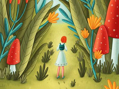 Forest adventure summertime illustrator character development digital illustration book illustration kids illustration illustration character design character children illustration