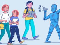 Blog Illustration: AI + Education