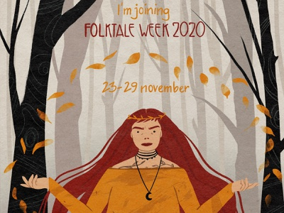 Folktaleweek poster character characterdesign texture shape procreate illustrator 2d design illustraion flat digital illustration digitalart art