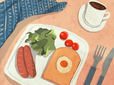 breakfast food illustration food breakfast texture shape procreate illustrator 2d design illustraion flat digital illustration digitalart art