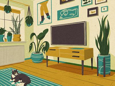 Living room texture shape procreate illustrator 2d design illustraion flat digital illustration digitalart art