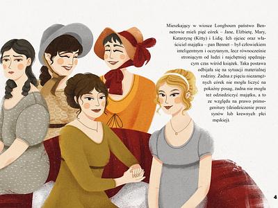 The Bennet sisters book childrens book illustrator 2d design illustraion flat digital illustration digitalart art