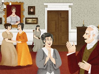The Bennet family book childrens book illustrator 2d design illustraion flat digital illustration digitalart art