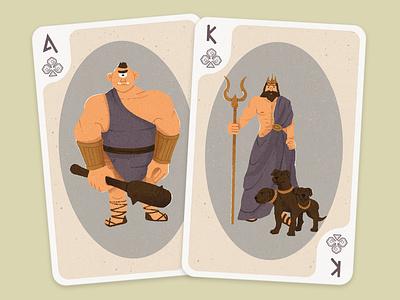 Playing Cards Design -  Greek Mythology cards playing cards illustrator cards design shapes colorful greek mythology graphic design 2d design illustraion flat digital illustration digitalart art