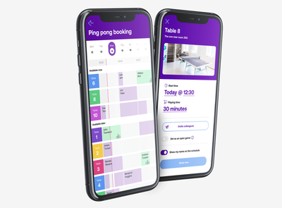 Ping pong table booking app booking ping pong calendar schedule