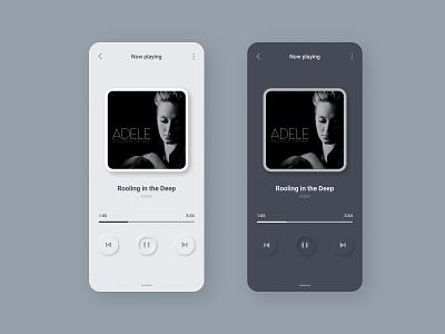 Daily UI #9: Music Player minimal illustration flat player music art web illustrator app dailyui ux ui