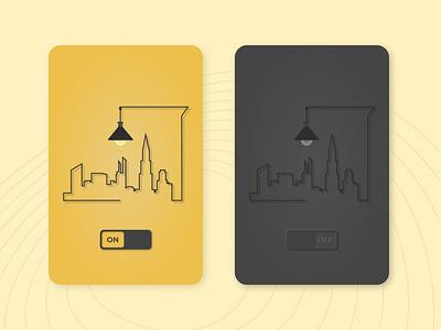 Daily UI #15: On/Off Switch illustration minimal flat illustrator web app on off switch ux ui dailyui