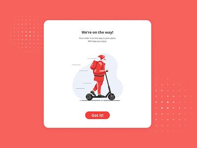 Daily UI #16: Pop-up / Overlay art minimal illustrator flat web app christmas overlay popup dailyui ui ux