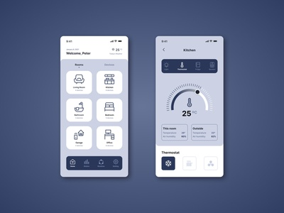 Daily UI #21: Home Monitoring Dashboard analytics minimal flat illustration web app smarthome dashboad home ux ui dailyui