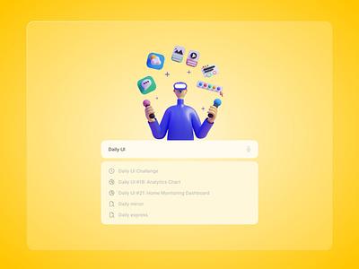 Daily UI #22: Search icon analytics chart flat minimal illustration web app search ux ui dailyui