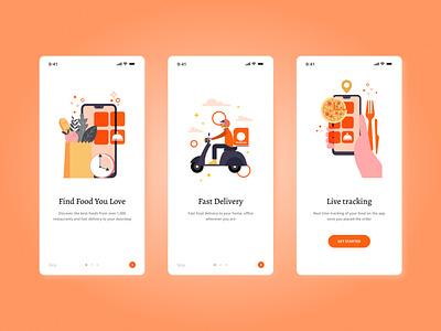 Daily UI #23: Onboarding illustrator flat minimal illustration web app food onboarding ux ui dailyui
